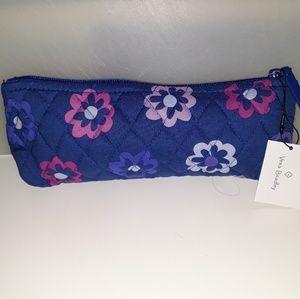 Vera Bradley Brush & Pencil Bag Ellie Flowers NWT